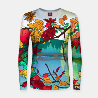 Miniatur Leaves in the park Women sweater, Live Heroes