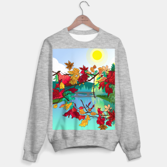 Miniatur Leaves in the park Sweater regular, Live Heroes
