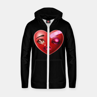 Broken Heart Zip up hoodie Bild der Miniatur