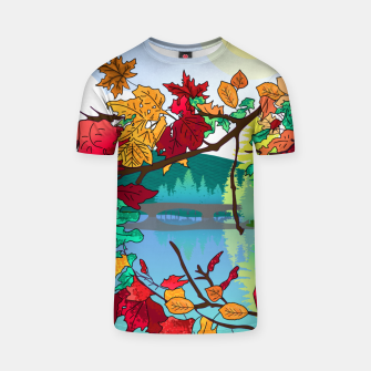 Miniatur Leaves in the park T-shirt, Live Heroes