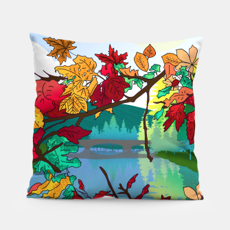 Miniatur Leaves in the park Pillow, Live Heroes