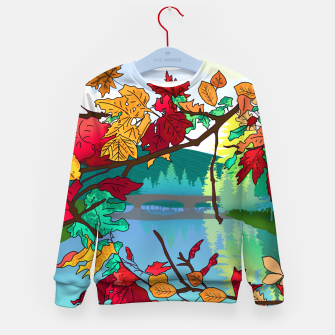 Miniatur Leaves in the park Kid's sweater, Live Heroes