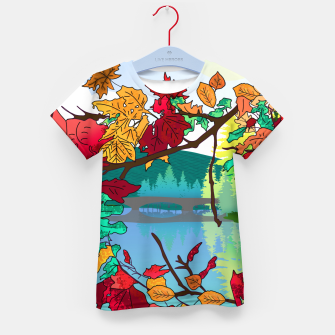 Miniatur Leaves in the park Kid's t-shirt, Live Heroes