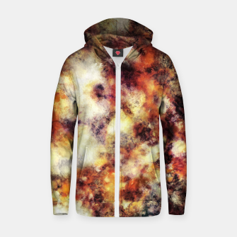 Thumbnail image of Red stone and snow Zip up hoodie, Live Heroes