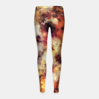 Thumbnail image of Red stone and snow Girl's leggings, Live Heroes