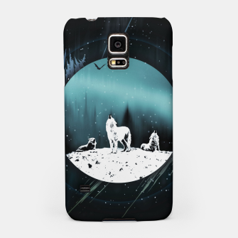 Thumbnail image of Arctic Wolves at Night Handyhülle für Samsung, Live Heroes