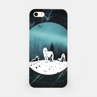 Miniature de image de Arctic Wolves at Night iPhone-Hülle, Live Heroes