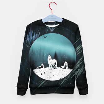 Miniature de image de Arctic Wolves at Night Kindersweatshirt, Live Heroes
