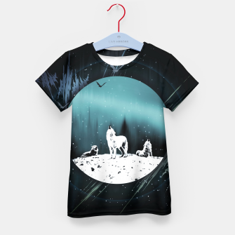 Miniature de image de Arctic Wolves at Night T-Shirt für kinder, Live Heroes