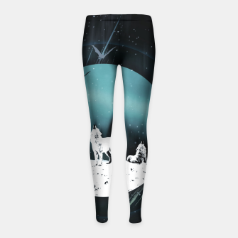 Miniature de image de Arctic Wolves at Night Kinder-Leggins, Live Heroes