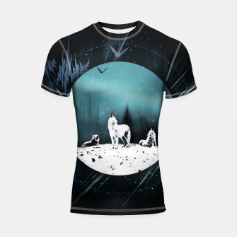 Miniature de image de Arctic Wolves at Night Shortsleeve rashguard, Live Heroes