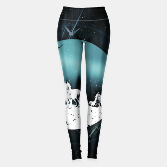 Miniature de image de Arctic Wolves at Night Leggings, Live Heroes
