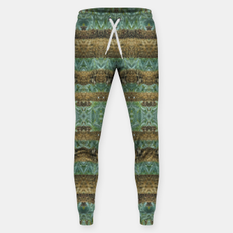 Thumbnail image of Multicolored Tribal Stripes Print Pattern Sweatpants, Live Heroes