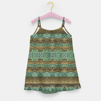 Thumbnail image of Multicolored Tribal Stripes Print Pattern Girl's dress, Live Heroes