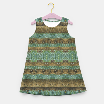 Thumbnail image of Multicolored Tribal Stripes Print Pattern Girl's summer dress, Live Heroes