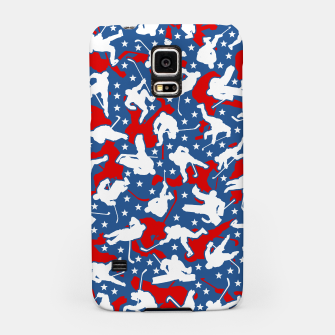 Thumbnail image of Ice Hockey Player USA American Flag Camo Camouflage Pattern Samsung Case, Live Heroes
