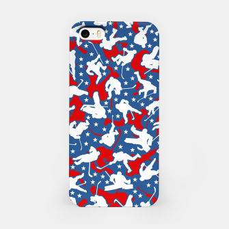 Thumbnail image of Ice Hockey Player USA American Flag Camo Camouflage Pattern iPhone Case, Live Heroes