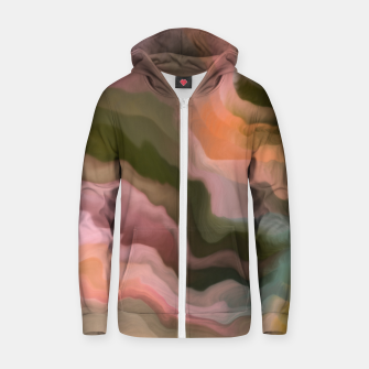 Thumbnail image of Rustic desert colors waves 23 Sudadera con capucha y cremallera , Live Heroes