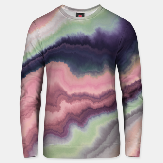 Purple pink watercolor brush strokes Sudadera unisex Bild der Miniatur