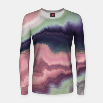 Purple pink watercolor brush strokes Sudadera para mujeres Bild der Miniatur