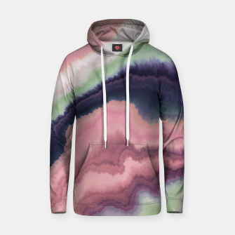Purple pink watercolor brush strokes Sudadera con capucha Bild der Miniatur