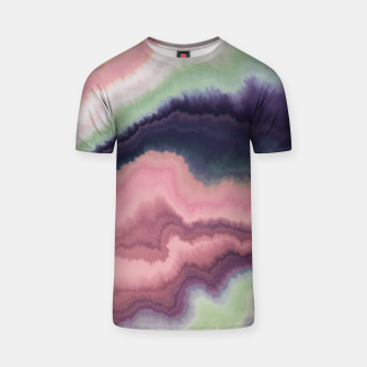 Purple pink watercolor brush strokes Camiseta Bild der Miniatur