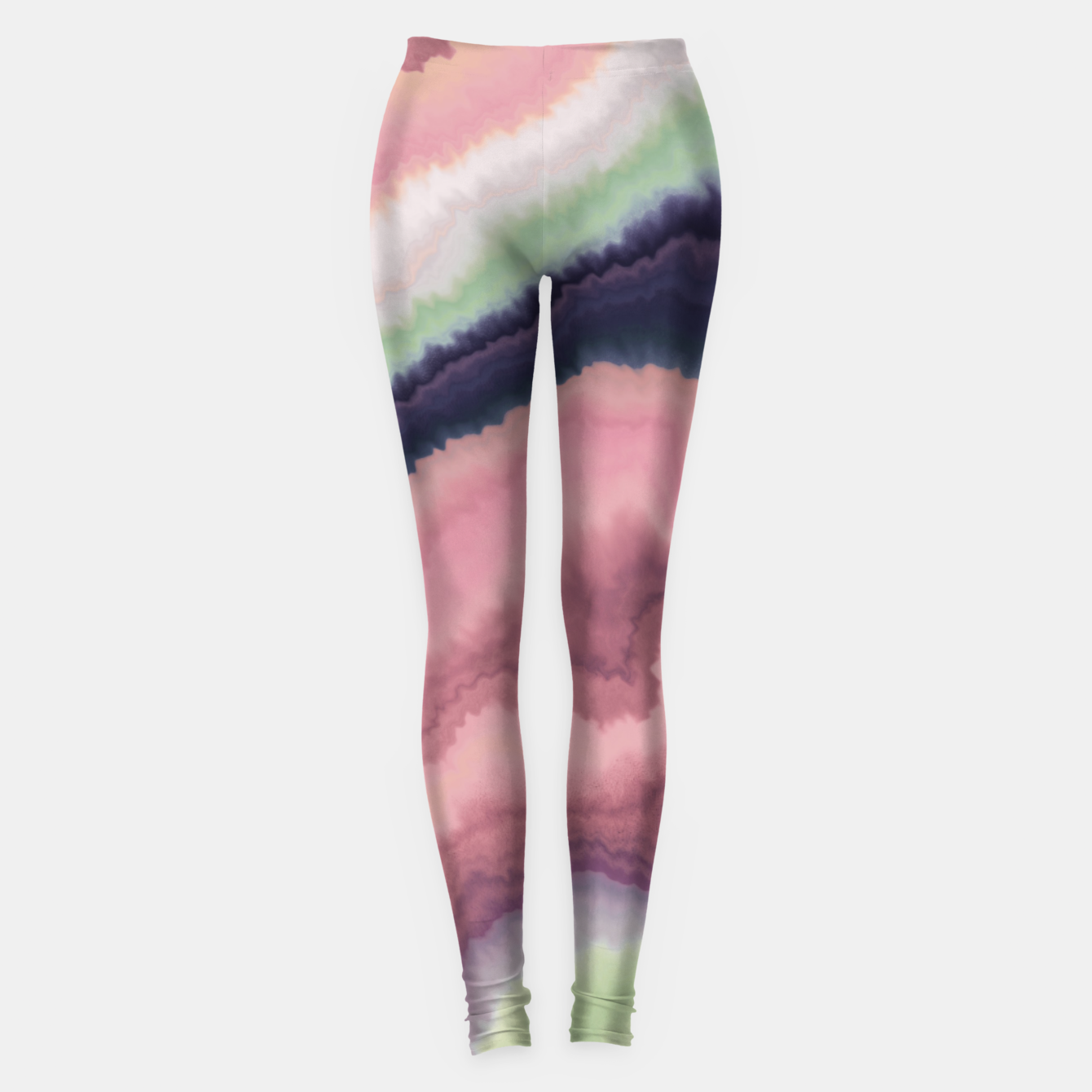 Foto Purple pink watercolor brush strokes Leggings - Live Heroes