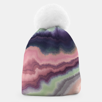 Purple pink watercolor brush strokes Gorro Bild der Miniatur