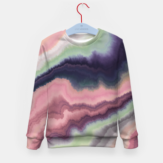 Purple pink watercolor brush strokes Sudadera para niños Bild der Miniatur