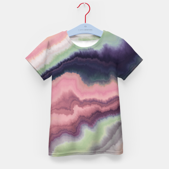Purple pink watercolor brush strokes Camiseta para niños Bild der Miniatur