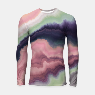 Purple pink watercolor brush strokes Longsleeve rashguard Bild der Miniatur
