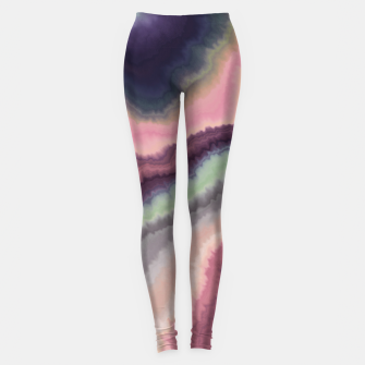 Purple pink watercolor brush strokes Leggings Bild der Miniatur