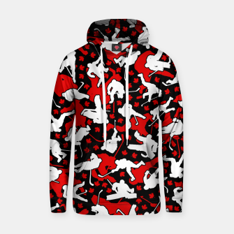 Thumbnail image of Ice Hockey Player Canada Flag Camo Camouflage Pattern Hoodie, Live Heroes