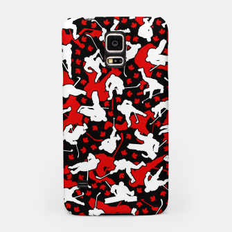 Thumbnail image of Ice Hockey Player Canada Flag Camo Camouflage Pattern Samsung Case, Live Heroes