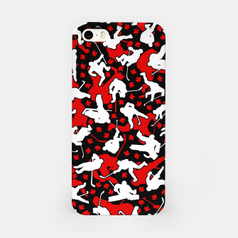 Thumbnail image of Ice Hockey Player Canada Flag Camo Camouflage Pattern iPhone Case, Live Heroes