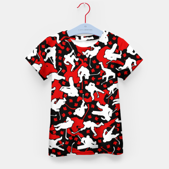 Thumbnail image of Ice Hockey Player Canada Flag Camo Camouflage Pattern Kid's t-shirt, Live Heroes