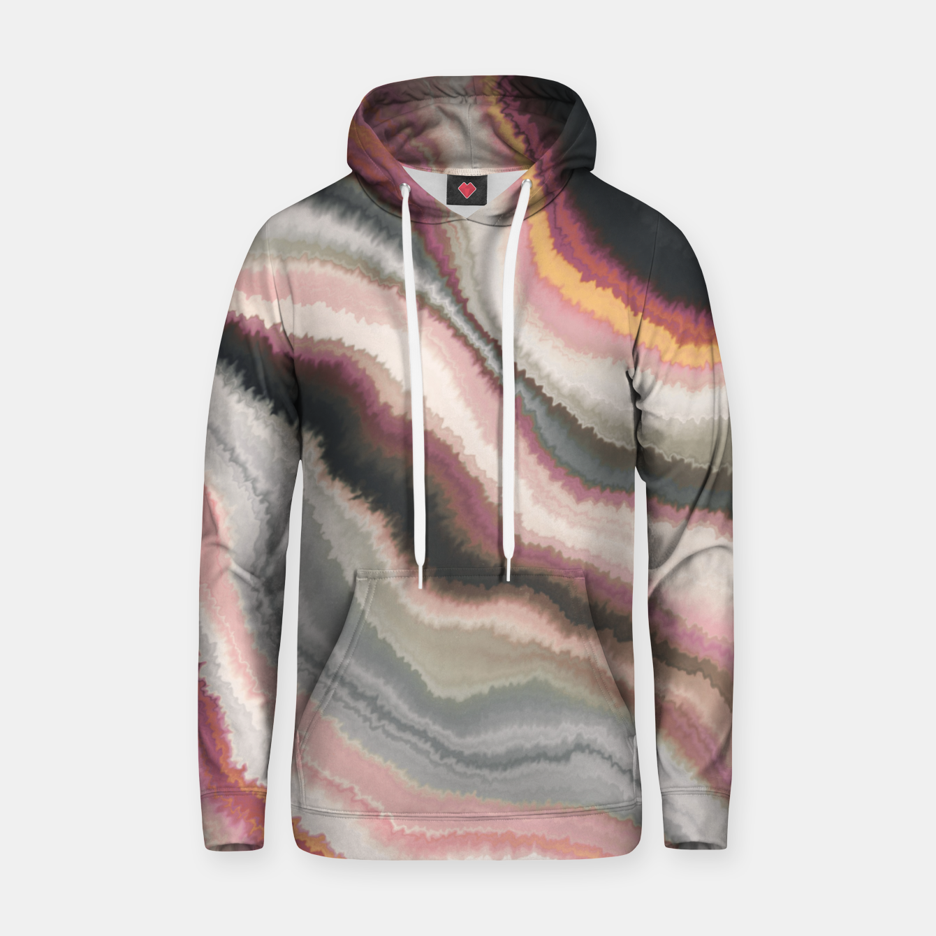 Image of Marbled watercolor brush strokes Sudadera con capucha - Live Heroes