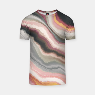 Miniatur Marbled watercolor brush strokes Camiseta, Live Heroes