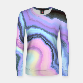 Miniature de image de Electric pastel colorful marbling Sudadera para mujeres, Live Heroes