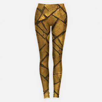 Thumbnail image of Golden Mosaic Texture Pattern Leggings, Live Heroes