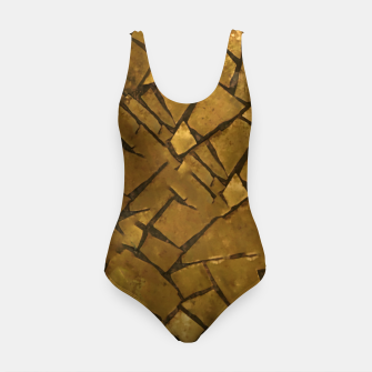 Thumbnail image of Golden Mosaic Texture Pattern Swimsuit, Live Heroes
