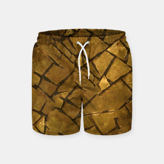 Thumbnail image of Golden Mosaic Texture Pattern Swim Shorts, Live Heroes
