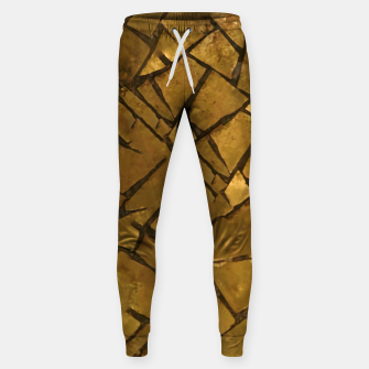 Thumbnail image of Golden Mosaic Texture Pattern Sweatpants, Live Heroes
