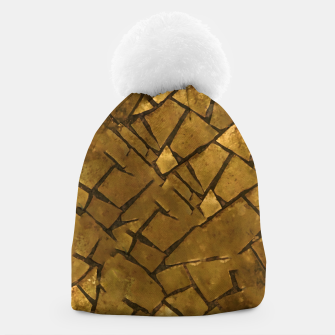 Thumbnail image of Golden Mosaic Texture Pattern Beanie, Live Heroes