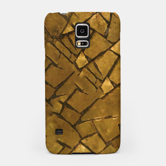 Thumbnail image of Golden Mosaic Texture Pattern Samsung Case, Live Heroes