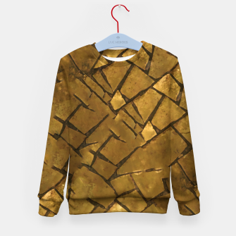 Thumbnail image of Golden Mosaic Texture Pattern Kid's sweater, Live Heroes
