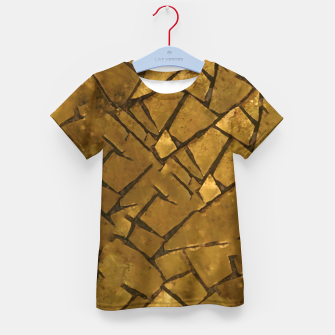 Thumbnail image of Golden Mosaic Texture Pattern Kid's t-shirt, Live Heroes