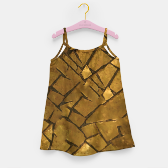 Thumbnail image of Golden Mosaic Texture Pattern Girl's dress, Live Heroes