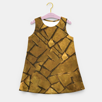 Thumbnail image of Golden Mosaic Texture Pattern Girl's summer dress, Live Heroes