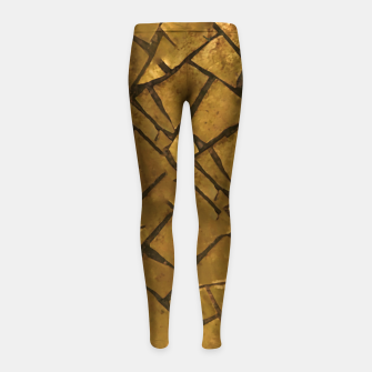 Thumbnail image of Golden Mosaic Texture Pattern Girl's leggings, Live Heroes